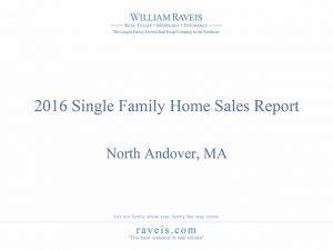 2016 North Andover, MA Single Family Home Sales Report